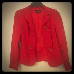 Luisa Spagnoli Italian cherry red blazer